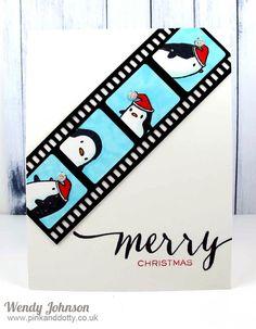 Mama Elephant Arctic Penguins Christmas Card