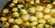 JEDNODUCHÝ DOMÁCI RECEPT: Báječná polievka s domácimi syrovými knedličkami - Recepty od babky Zucchini Cordon Bleu, Curry, Sprouts, Paleo, Beans, Soup, Vegetables, Cooking, Healthy