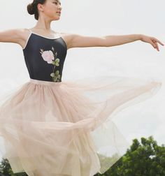 Cloud & Victory dancewear Fall/Winter '16/ The Tulle Skirt-Champagne/Gold/ modeled by Miko Fogarty/ www.cloudandvictory.com