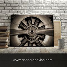 Airplane Propeller //  Oversized Canvas, Large Wall Art, Home Decor, Modern Art, Decoration, Aviation, Aviator Plane, Propeller