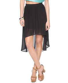 Forever 21 Textured High-Low Skirt - $19.80