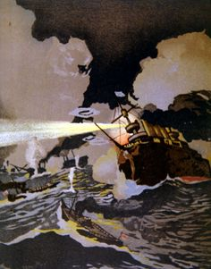 Naval Battle of Tsushima during the Russo-Japanese War Posters & Art Prints by Japanese School - Magnolia Box