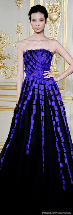 Rami Al Ali Couture Fall 2013 Purple challenge accepted