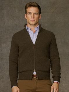 Shetland Wool Full-Zip Sweater - Polo Ralph Lauren Cardigan \u0026amp; Full-Zip -