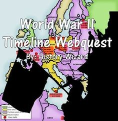 World War II Timeline Webquest uses a great website created by the BBC that allows students to get a better understanding of the causes and impact of key battles and events during World War II. The webquest is very easy to follow for students in grades 6-12.