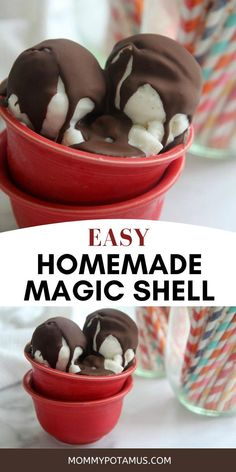 This magic shell recipe hardens into a deliciously rich & smooth chocolate shell when drizzled over ice cream. You probably already have the ingredients to make it right now! #icecreamrecipe #chocolateshell #magicshellrecipe Healthy Foods To Eat, Healthy Life, Healthy Eating, Healthy Recipes, Home Health Remedies, Balanced Meals, Eating Organic, Herbal Medicine, Natural Cures