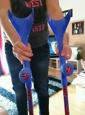 PURPLE /RED/BLUE/BLACK/YELLOW CUSTOM ERGONOMIC CRUTCHES  MADE TO ORDER
