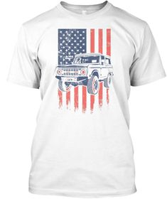 Bronco American Flag 4X4 T-Shirt 955a8dbca372