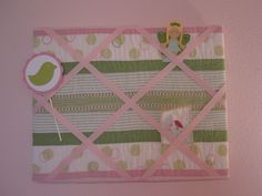 Not sure what to do with the crib bumper (since it's been determined bumpers are unsafe)?  Make it into a memory board!