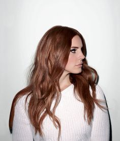 Lana Del Rey's copper hair tones are beautiful.