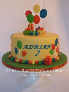 Balloon Birthday Cakes, Cute Birthday Cakes, Balloon Cake, Bithday Cake, Birthday Ideas, Dinosaur Cake, New Cake, Baking And Pastry, Occasion Cakes
