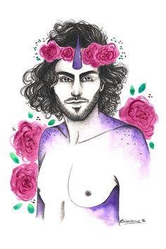 Lidiane Dutra | Ilustração: #ilustraday abril: unicórnio #illustration #unicorn