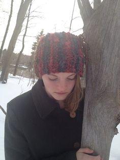 Lovely Red Black Brown Headband Ear Warmer by LibertysBoutique