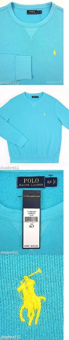 Sweaters 11484: Men S Polo Ralph Lauren Big And Tall Blue Terry Cotton Pullover Crewneck Sweater -> BUY IT NOW ONLY: $55.9 on eBay!