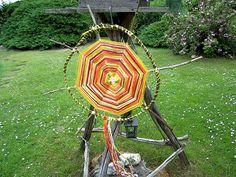 Sun wheel - Sonnenrad / Litha Midsummer Summer Solstice decoration