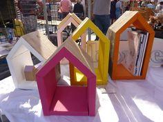 steigerhouten boekenhuisjes Wij maken ze in diverse maten en kleuren.