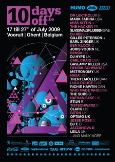 Carte De Visite Poster For The 15th Edition In 2009 Full Line Up Almas B