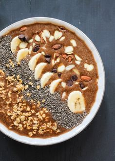 As much caffeine as a cup of coffee, and as much protein as an omelette. Basically, this smoothie bowl is the ultimate two-in-one. Get the recipe here.