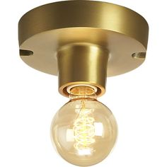 brass flush mount la