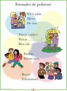 French Set of 4 Posters with Everyday Phrases - Salutations et adieux