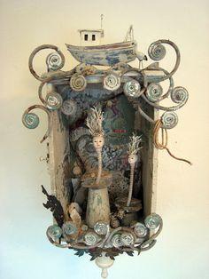 Art Journal - Altered Treasures - Assemblage Finds - Assemblage: Sea Faeries by bugatha1.deviantart.com