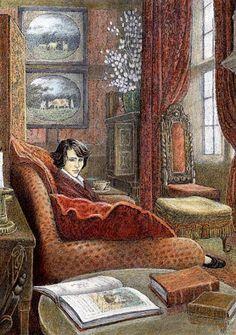 Illustration by Inga Moore for Frances Hodgson Burnett's 'The Secret Garden' #reading #books