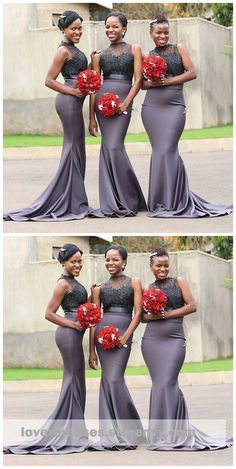 Grey High Neck Illusion Bridesmaid Dresses, Long Mermaid Bridesmaid Dresses, sold by VisionDresses. Shop more products from VisionDresses on Storenvy, African Bridesmaid Dresses, Mermaid Bridesmaid Dresses, Wedding Dresses, Plus Size Prom Dresses, Homecoming Dresses, Prom Gowns, Long Dresses, Popular Dresses, African Fashion Dresses