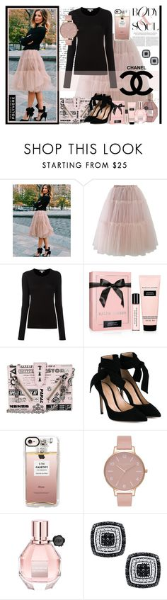 """""""BODY & SOUL: Ruffled Tutu Skirt"""" by polyvore-suzyq ❤ liked on Polyvore featuring Chicwish, James Perse, Ralph Lauren, Kenzo, Gianvito Rossi, Casetify, Olivia Burton, Viktor & Rolf and Chanel"""