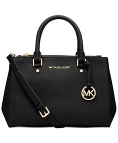 MICHAEL Michael Kors Sutton Small Satchel (I like both the black and cherry one) | macys.com