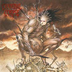 Artwork of Cannibal Corpse - Bloodthirst album. Death Metal, Cannibal Corpse Album Covers, Metal Albums, Heavy Metal Music, Metal Artwork, Monster Art, Happy Art, Metal Bands, Rock Art