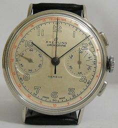 Vintage Breitling Swiss Chronograph Mens Watch