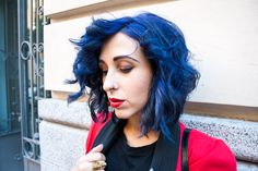 OUTFIT LADY IN RED - #bluehair