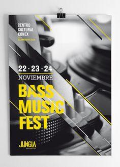 JUNGLA | Bass Music Fest by Ursula Villalba, via Behance