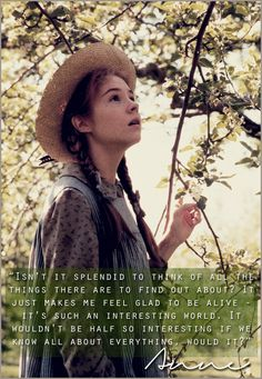 """You can never go wrong with """"Anne of Green Gables."""""""