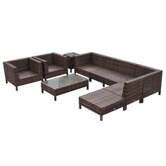 Found it at Wayfair - 9 Piece Lounge Seating Group with Cushion