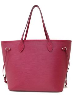 Louis Vuitton Auth M40882 Tote Bag Epi Neverfull MM Fuchsia FS Excellent #7753 #LouisVuitton #TotesShoppers