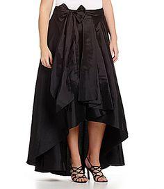 Adrianna Papell Plus HiLow Taffeta Skirt #Dillards