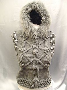 tough chick's hooded knit vest