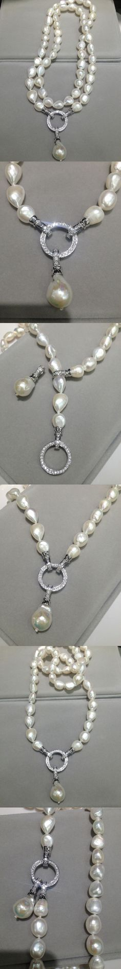 9b294f4e6 Multi wear Long FreshWater Pearl Necklace Natural 10-11MM 80CM Baroque Long Pearl  Necklace Fashion