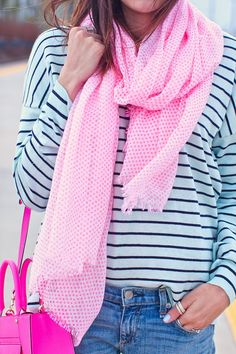 Pink accents