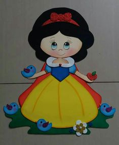 Foam Crafts, Diy And Crafts, Crafts For Kids, Paper Crafts, Snow White Birthday, Felt Quiet Books, Cute Clipart, Little Critter, Decorate Notebook