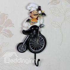 Wonderful European Style Creative Resin Chef Wall Hook