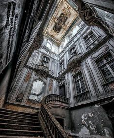 Stairway in an abandoned Lisbon palace. Stairway in an abandoned Lisbon palace. The post Stairway in an abandoned Lisbon palace. Abandoned Buildings, Abandoned Property, Old Abandoned Houses, Abandoned Castles, Abandoned Mansions, Old Buildings, Abandoned Places, Old Houses, Abandoned Plantations