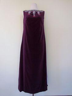 Rare Vintage 60s Purple Velvet Party Dress Audrey by lalavintage1