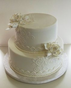 Small wedding cake. I like this, but maybe add some color.