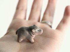 Baby Hippo The Totem Nursery by HandyMaiden on Etsy, $40.00