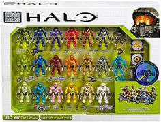 AmazonSmile: Mega Bloks, Halo, Exclusive Spartan Tribute Set (97520): Toys & Games