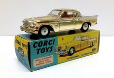 Currently at our Catawiki auctions: Corgi Toys - Scale 1/43 - Studebaker Golden Hawk No.211S