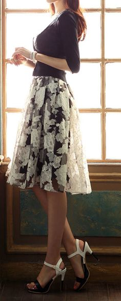 Rose midi skirt. I'm not usually a skirt fan, but I love this, such movement, and a little sheerness. ak