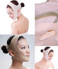 [Visit to Buy] Nude Wrinkle V Shape Face Chin Cheek Lift Tool Up Slimming Slim Mask Ultra-thin Belt Strap Band 5ICH #Advertisement